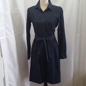 Gap Women's Blue Denim Long Sleeve Dress Size:4